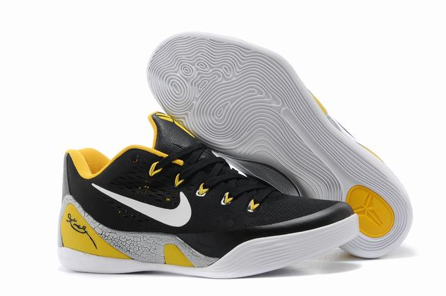 Kobe 9 Shoes Low Black Yellow