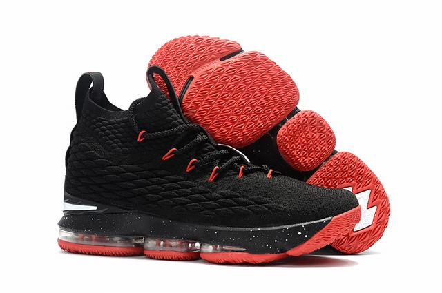 Nike Lebron James 15 Air Cushion Shoes Black Red White