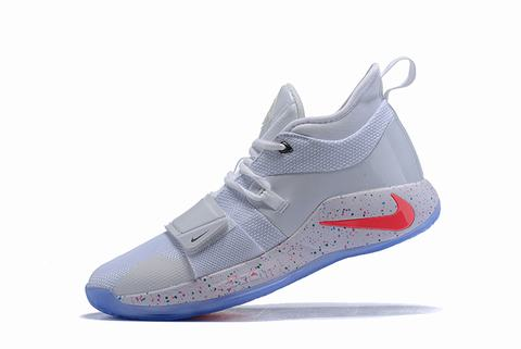 Nike PG 2.5 White red and blue logo